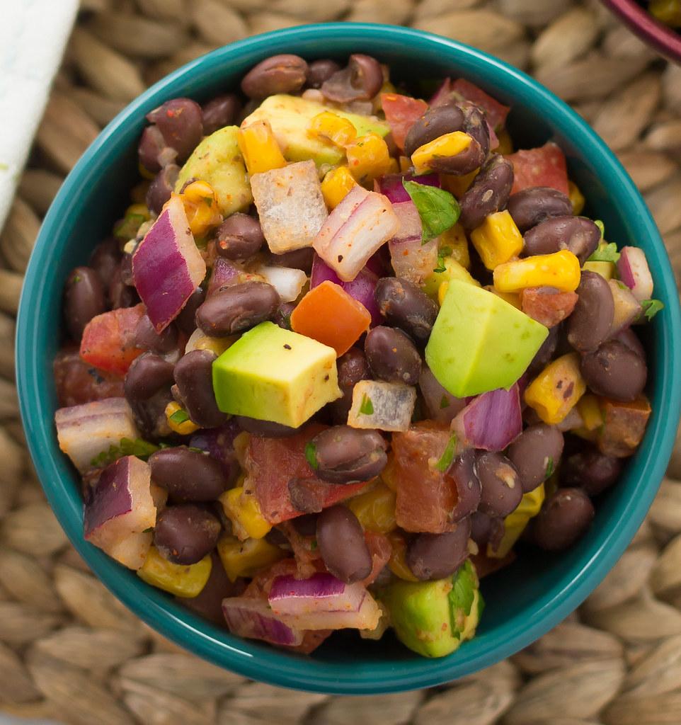 Southwestern Black Bean and Roasted Corn Salad 12C