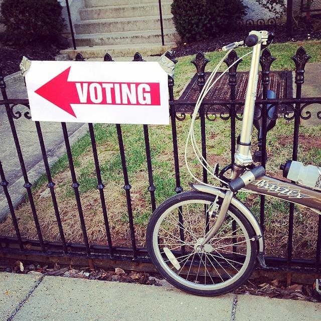 Biking to the ballot box #30daysofbiking