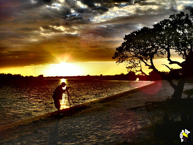 Fotografando o Lago Caracaranã