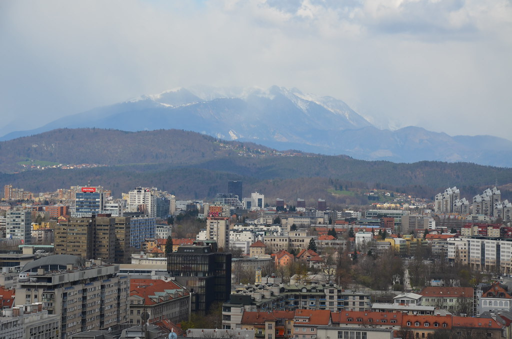 The view from the castle in Ljubljana
