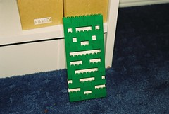 Something I made out of green and white lego