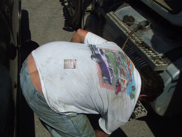 Trucker Mike showing some crack