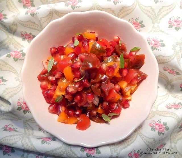salata cu rodie si rosii
