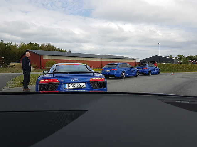 Audi Sport Tour Trosa Park Audi R8, RS6 and RS3
