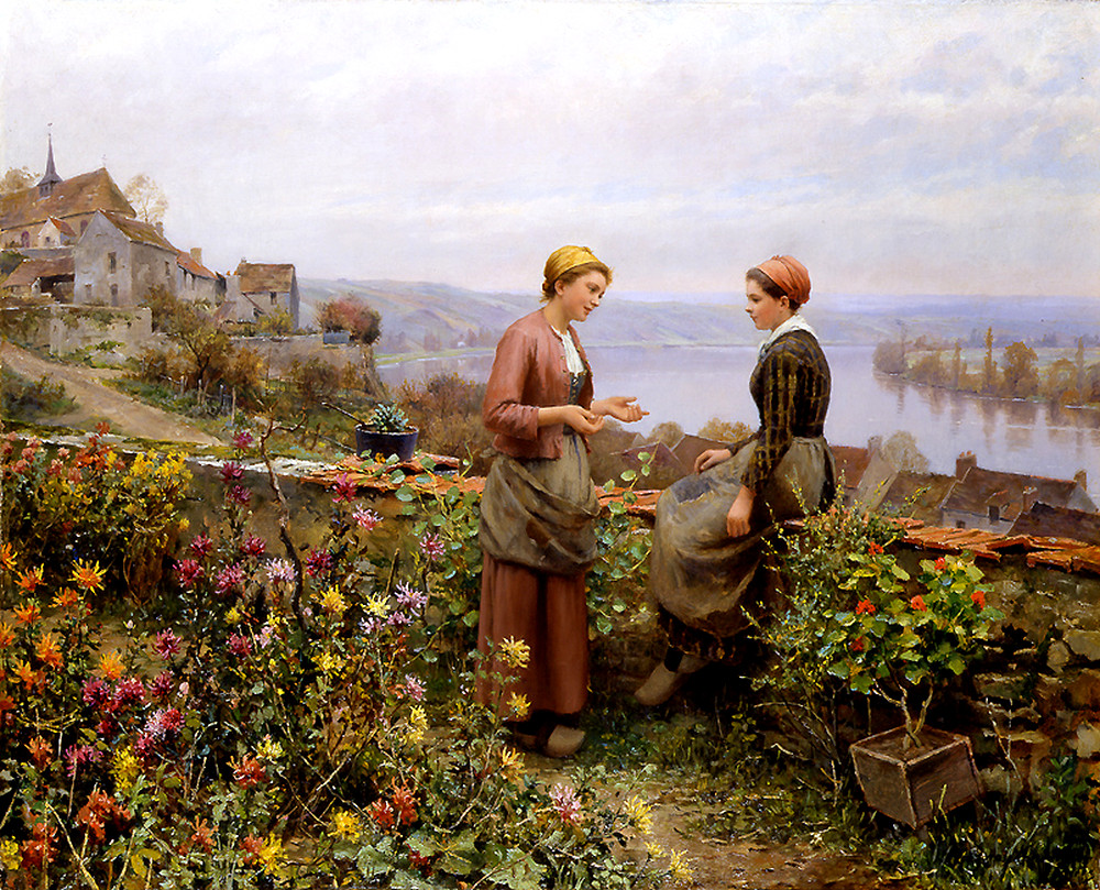 Confidence by Daniel Ridgway Knight - circa 1899