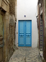 the blue door at the end of the tunnel (touched by the hand of fate)