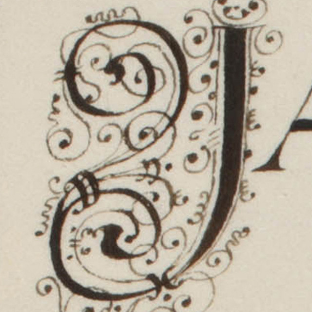 Initial J From A 17th 18th Century Manuscript Flickr