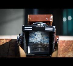 Brooklyn Bridge & Rolleiflex