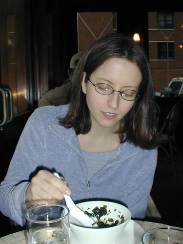 At the veggie restaurant