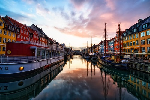 Sunset at Nyhavn