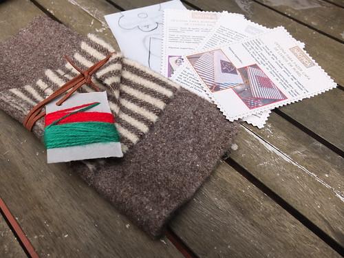 kit para capa de livro em burel - book cover kit
