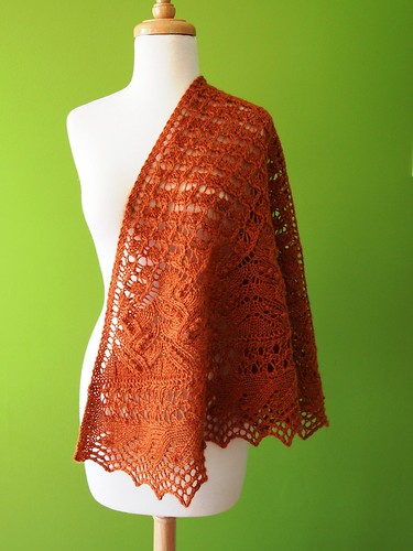 Juneberry Triangle Shawl