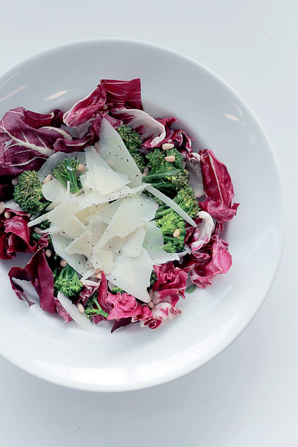 Radicchio, Broccoli and Pecorino Cheese