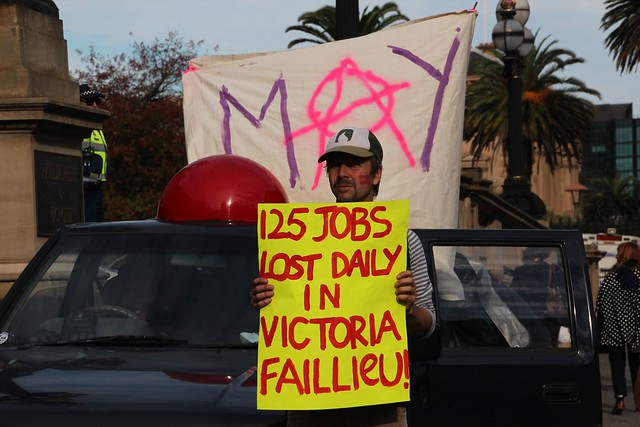 Mayday - 125 jobs lost daily in Victoria - Melbourne May ...