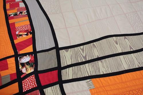 Line quilt, detail