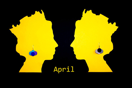 Paper Earrings - April