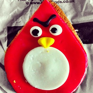 My local bakery is making Angry Birds gingerbread!