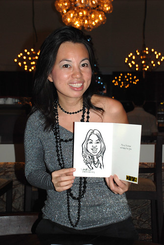 caricature live sketching for DVB Christmas party - 1
