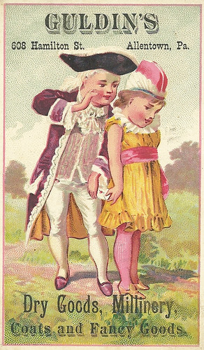 Vintage Ephemera Guldin's Dry Goods Millinery Colonial Children