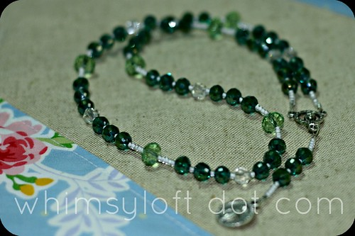 7 sorrows rosary in emerald