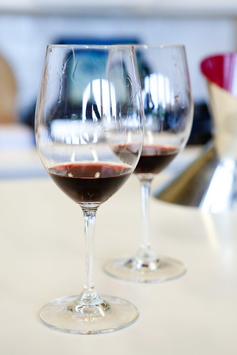 Two glasses of 2008 Barrel to Barrel Cabernet Sauvignon