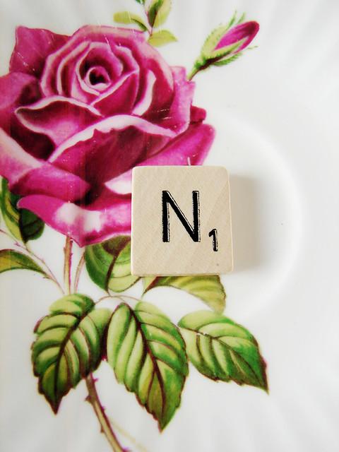 Letters en een roosje
