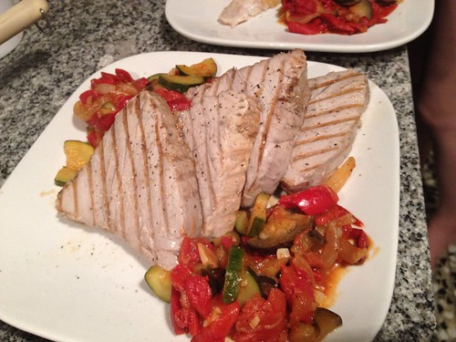 Tuna and ratatouille
