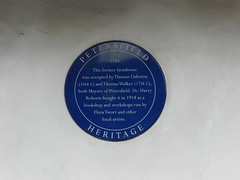 Photo of Thomas Osbourne, Thomas Walker, Harry Roberts, and Flora Twort blue plaque