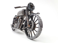 Nuts and Bolts Triumph motorcycle sculpture