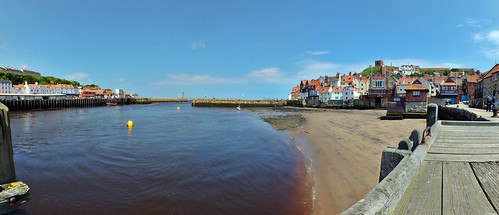 Whitby harbour from the amateur rowing club jetty by phil openshaw