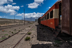 Peru. Abandoned Train Station (from Arequipa to Chivay; Salinas and Aguada Blanca National Reservation)