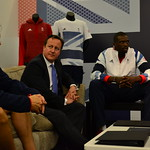 David Cameron: David Cameron chats to Team GB members