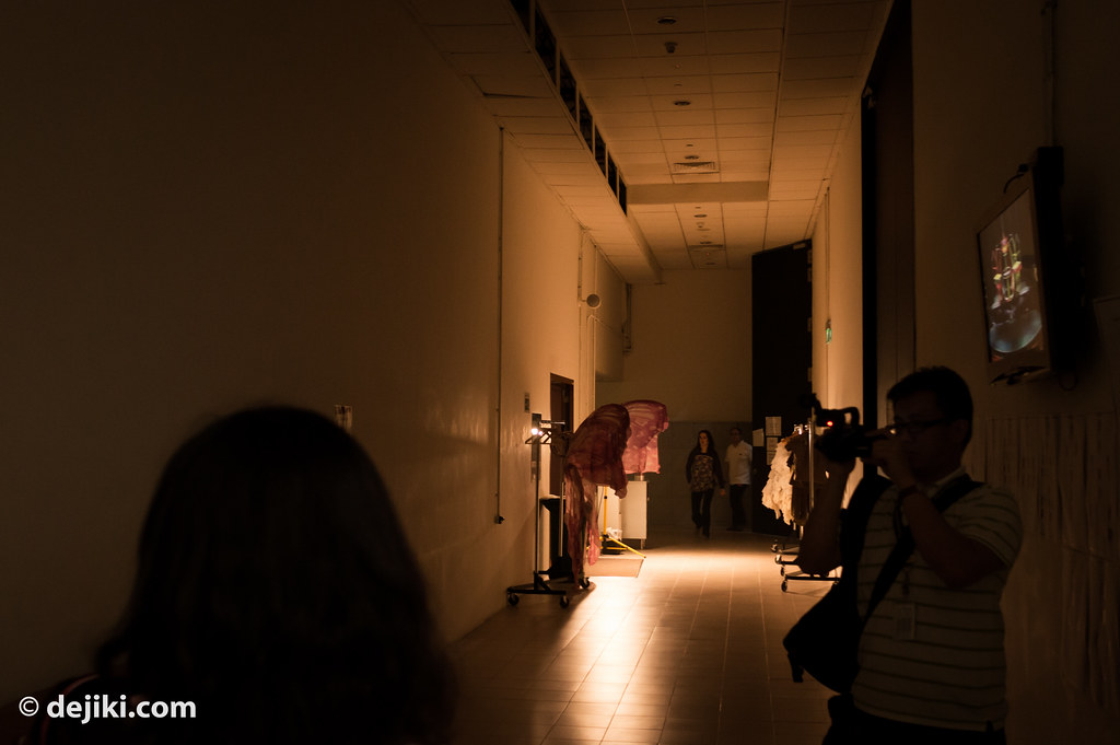 Backstage corridors