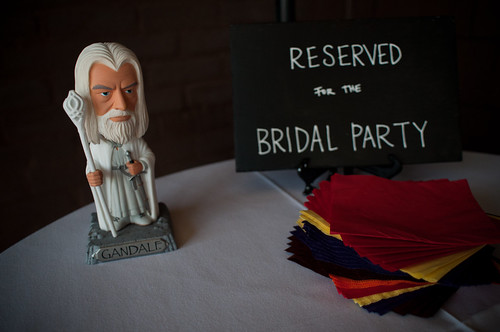 You shall not eat the bridal party's nibbles
