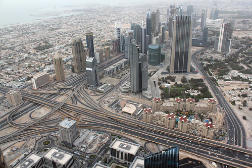 View from the observation deck Burj Khalifa. Dubai.