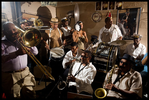 Treme Brass Band at the Candlelight Lounge. Photo by Ryan Hodgson-Rigsbee.
