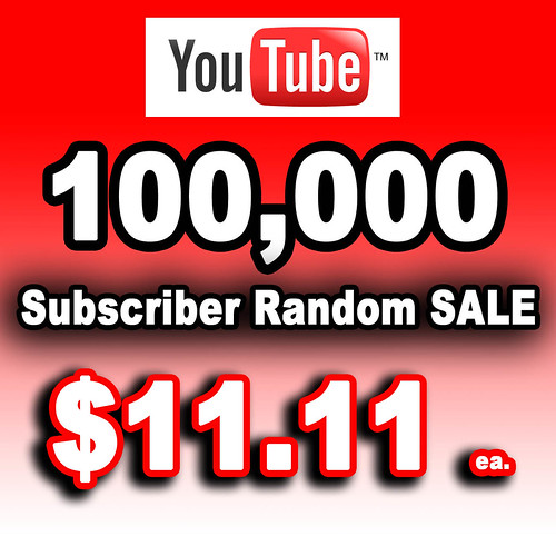100,000 YouTube Subscribers Sale