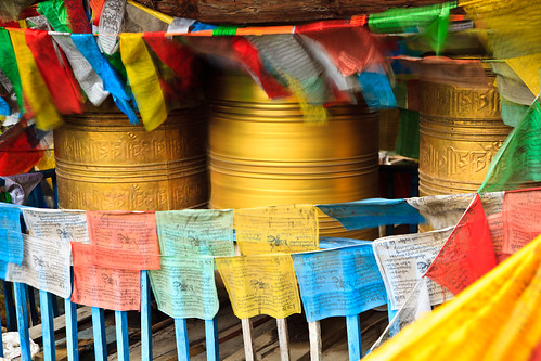 Water-powered prayer wheels