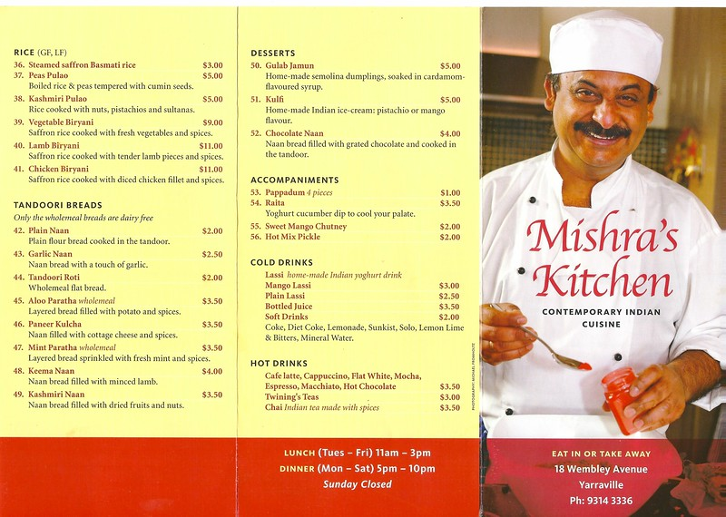 Mishra's menu 1 1
