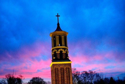 ohio church sunrise catholic belltower westerville stpaulcatholicchurch