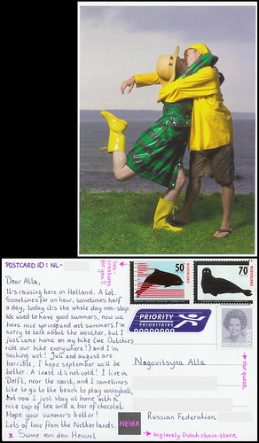 postcrossing_1320534_front+back_censored by Sanne van den Heuvel