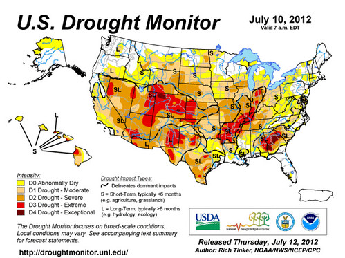 "much of the country is in ""severe,"" ""extreme"" or ""exceptional"" drought (via US National Integrated Drought Information System)"