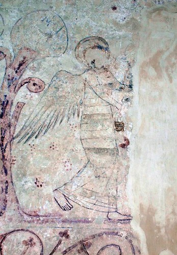 Wallpainting Angel with censer