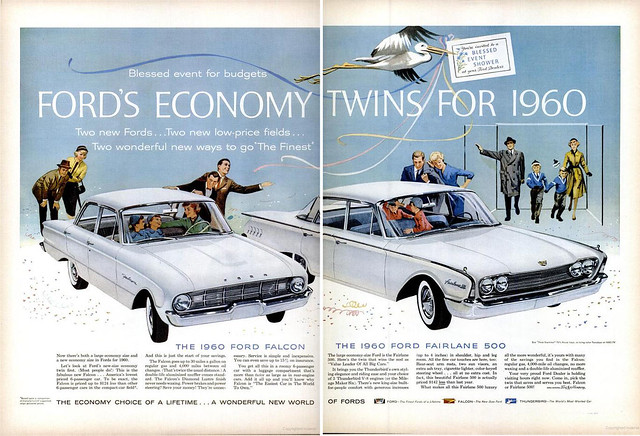 1960 Ford Falcon/Fairlane 2-page ad