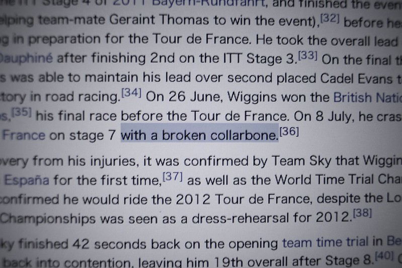 ...with a broken collarbone...