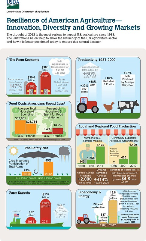 Infograpic depicting the resiliance of U.S agriculture. Click to enlarge image.
