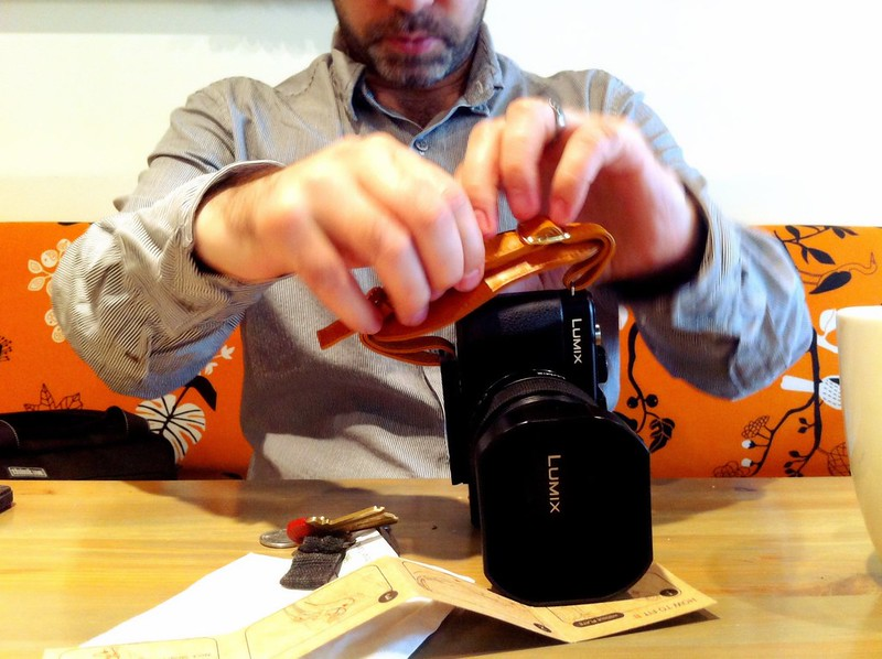 Aidan's new camera strap 1