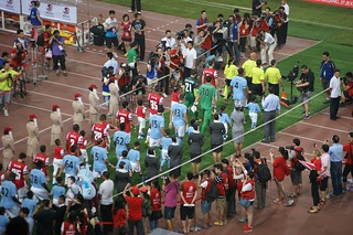 Entrance of the teams - Man City vs Arsenal