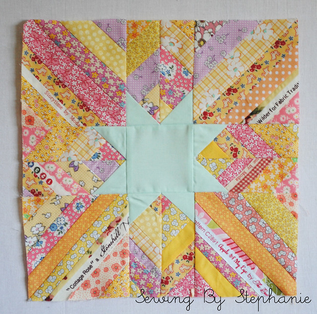 July Stash Bee Block