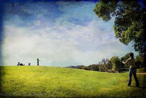 "california kite texture children downtownla digitalphotography lasunrise ilovela creativephotography canoneosdigitalslr ""flickraward"" discoverlosangeles rebelt2i albertvalles castaiclakepark girlplayingwiththediscovery"